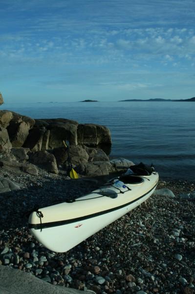 Upptagningsplats av Kajak Balesviken