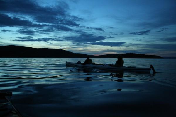 Nattpaddling från Ulvön till Baggviken
