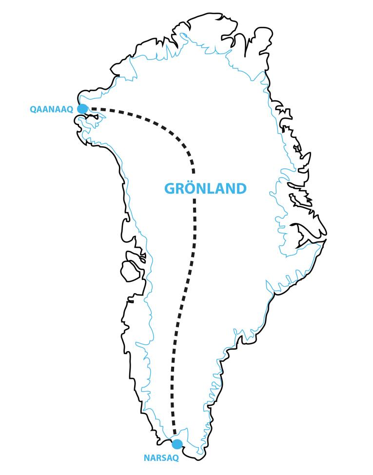Karta Grönland systrarna Davidsson