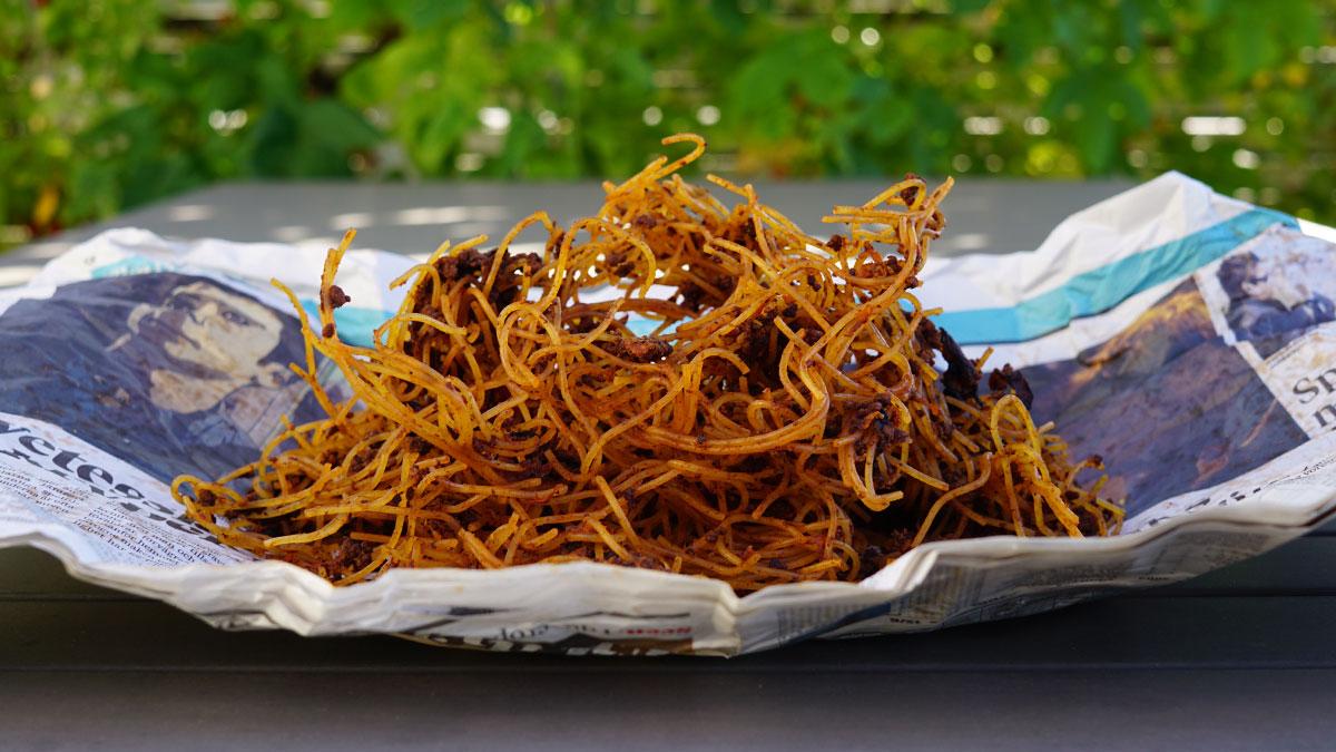 spagetti köttfärssås torkad